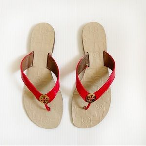 Tory Burch Red Strap Flip Flop